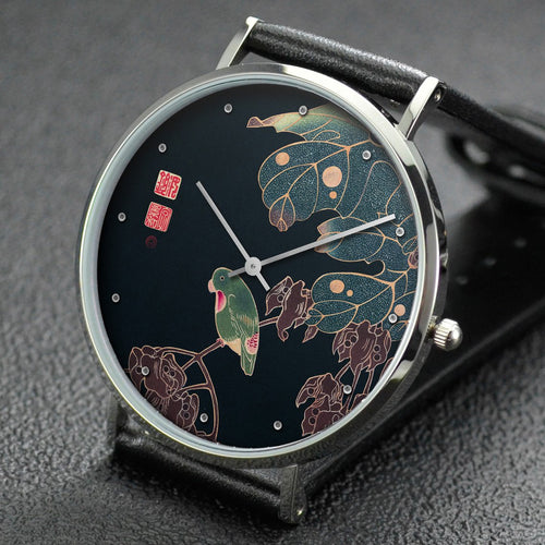 Ito Jakuchu wrist watch ─ The Paroquet