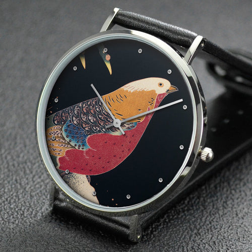 Ito Jakuchu wrist watch ─ Golden Pheasant in the Snow