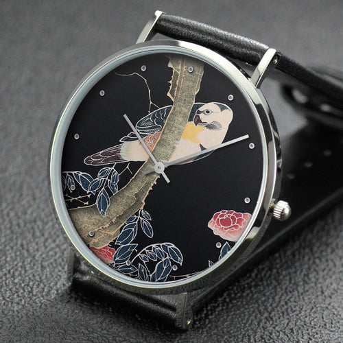 Ito Jakuchu wrist watch ─ Rose and Parrot