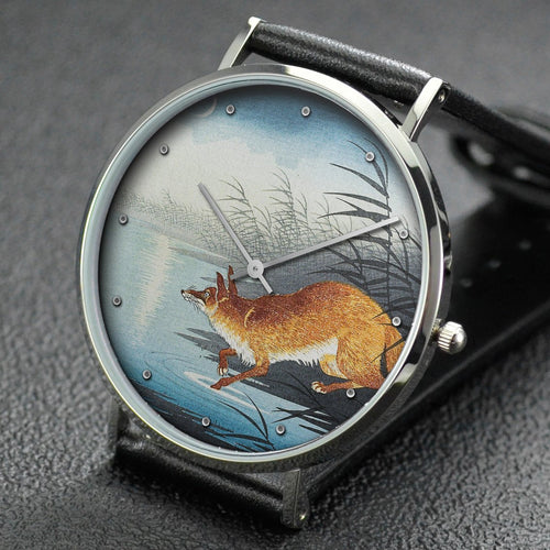 Ohara Koson wrist watch ─ Fox by the Moonlit Water