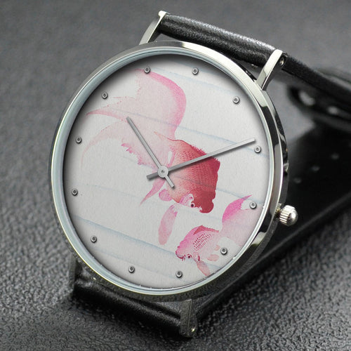 Ohara Koson wrist watch ─ Two veil tails