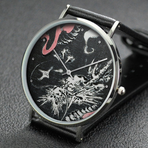 Hiroshige wrist watch ─ Dragon in clouds