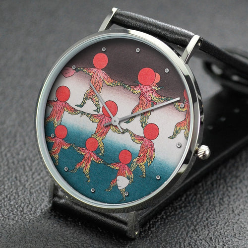 Hiroshige wrist watch ─ Lantern Plants as Mitate of Children at Play
