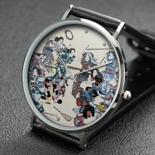 Hiroshige wrist watch ─ The Ancient Custom of Attacking the Concubine