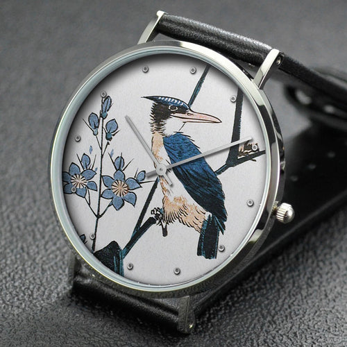 Hiroshige wrist watch ─ Kingfisher and Water Plantain