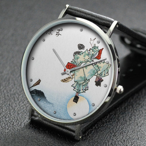 Yoshitoshi wrist watch ─ Ushiwakamaru at Gojo Bridge