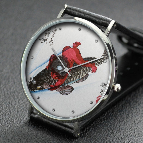 Yoshitoshi wrist watch ─ Kintaro Captures the Carp