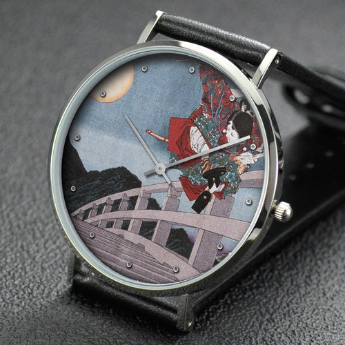 Yoshitoshi wrist watch ─ Gojo Bridge, an Episode from the Life of Yoshitsune