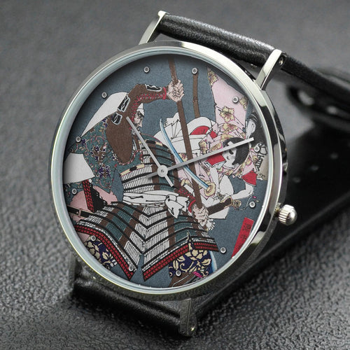 Yoshitoshi wrist watch ─ Sagami Jiro and Taira no Masakado Attacking an Opponent on Horseback