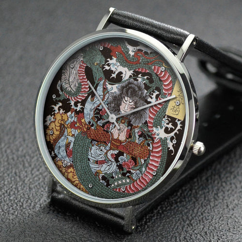 Yoshitoshi wrist watch ─ Tawaraya Toda and a Dragon
