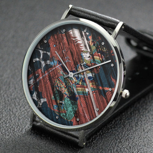 Yoshitoshi wrist watch ─ Watanabe Genji Tsuna on a Horse in the Rain
