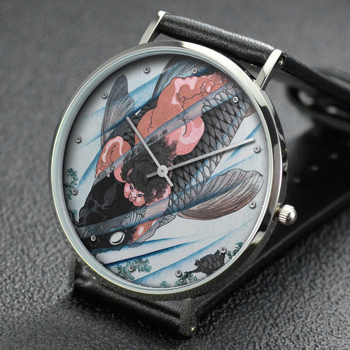 Yoshitoshi wrist watch ─ Kintaro Seizes the Carp