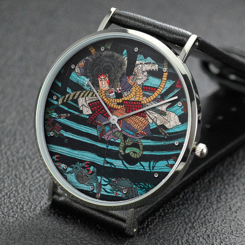 Yoshitoshi wrist watch ─ Picture of the Heike Clan Sinking and Perishing at Sea