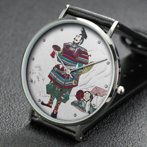 Yoshitoshi wrist watch ─ Picture of Shizuka and Hangan Parting at Yoshino