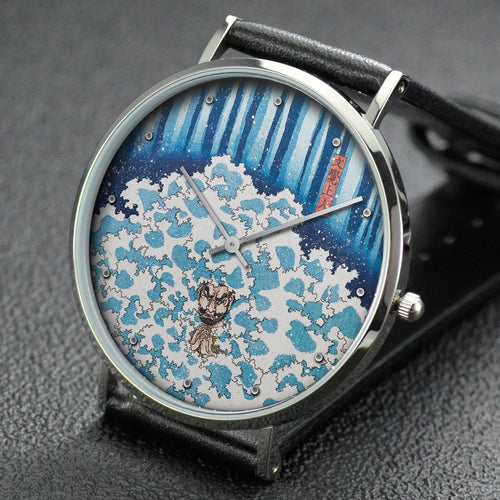 Yoshitoshi wrist watch ─ Picture of Penance under the Waterfall at Mount Nachi