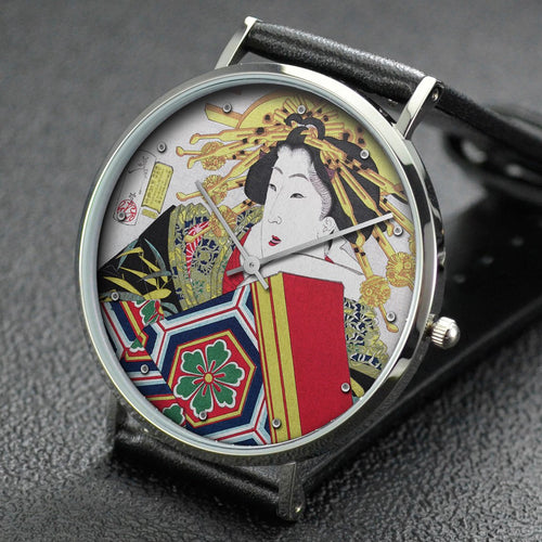 Yoshitoshi wrist watch ─ Appearing Graceful, Behavior of a High-Ranking Prostitute of the Tenpo Era