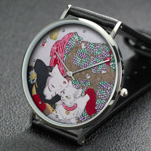 Yoshitoshi wrist watch ─ Appearing Tiresome, Behavior of a Maiden of the Kansei Era