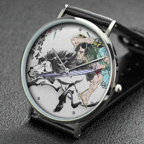 Yoshitoshi wrist watch ─ Soga Tokimune Galloping Bareback in Oiso