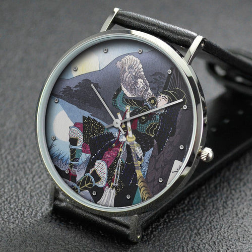 Yoshitoshi wrist watch ─ Hideyoshi and the moon to Shizugatake