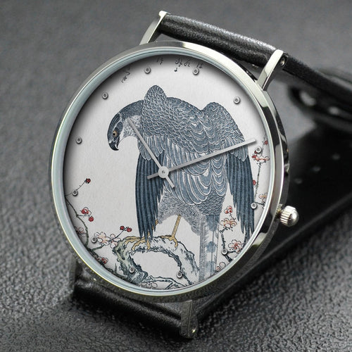 Utamaro wrist watch ─ Myriad Birds:A Playful Poetry Contest Hawk
