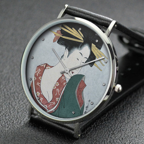 Utamaro wrist watch ─ Hitomoto from the Daimonjiya house