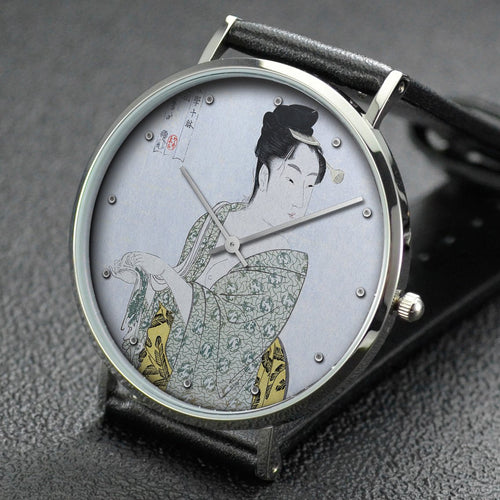 Utamaro wrist watch ─ Fancy-free Type
