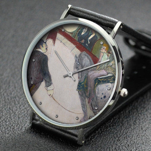 Henri de Toulouse-Lautrec wrist watch ─ Equestrian (At the Cirque Fernando)
