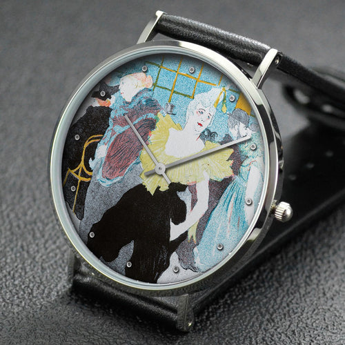 Henri de Toulouse-Lautrec wrist watch ─ The Female Clown at the Moulin rouge