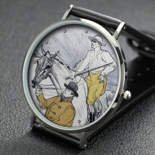 Henri de Toulouse-Lautrec wrist watch ─ The Jockey Going to the Post