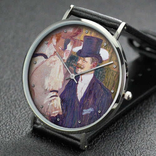 Henri de Toulouse-Lautrec wrist watch ─ The Englishman at the Moulin Rouge