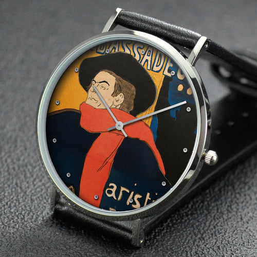 Henri de Toulouse-Lautrec wrist watch ─ Aristide Bruant, at His Cabaret
