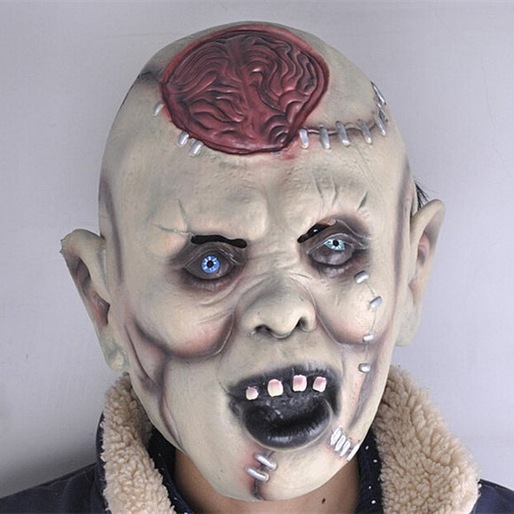 Skeleton Adult Head Latex Horror Headgear