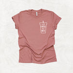 Cold Coffee, Hot Mess - Coffee Lover Themed Crew Neck T-Shirt