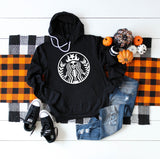 Skeleton Starbucks - Coffee Lover Halloween / Fall Themed Hoodie