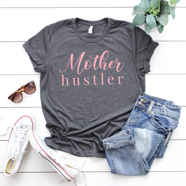 Mother Hustler - Motherhood Crew Neck T-Shirt