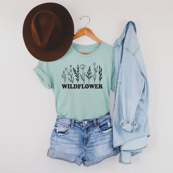WILDFLOWER Lineup - Spring Themed Crew Neck T-Shirt