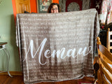Personalized Mother's Day Blanket - Repeating Kids / Grandkids Names
