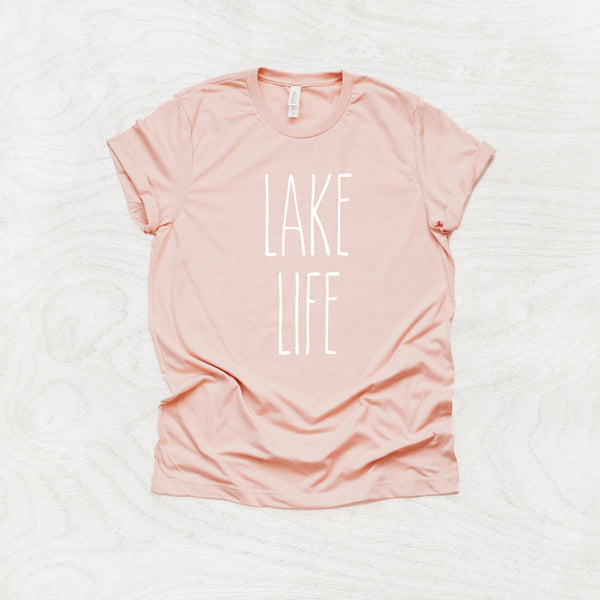 Lake Life - Lake Themed Crew Neck T-Shirt