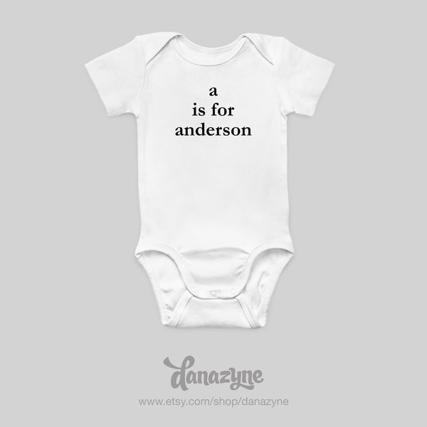 Custom Letter is for Baby Name Onesie - Perfect Name Reveal Prop