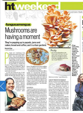Green Apron featured in Hindustan Times