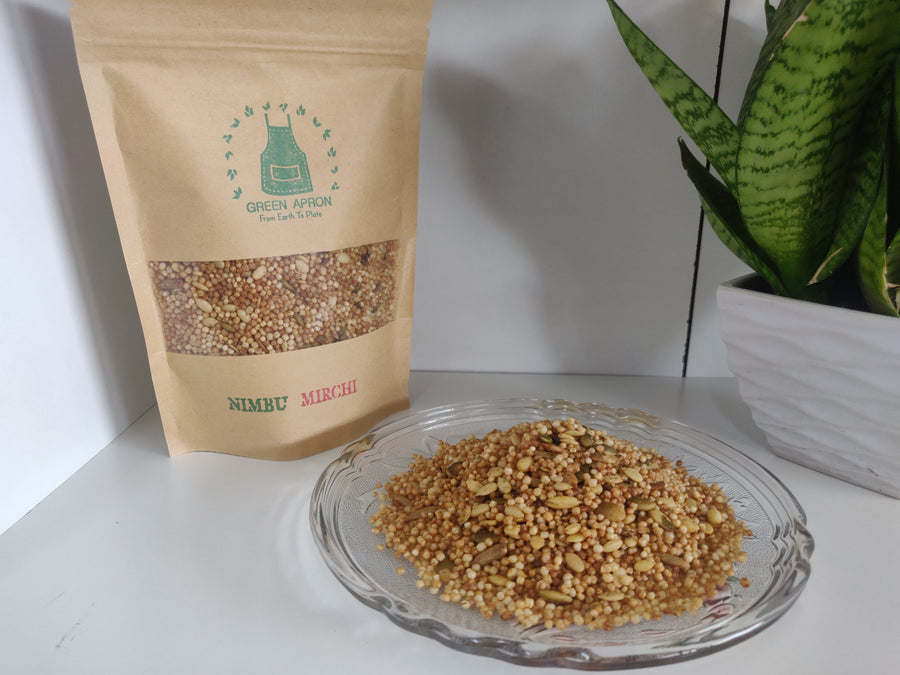 Ready-to-eat Snack- Nimbu Mirchi: Quinoa & Millet Mix -100g