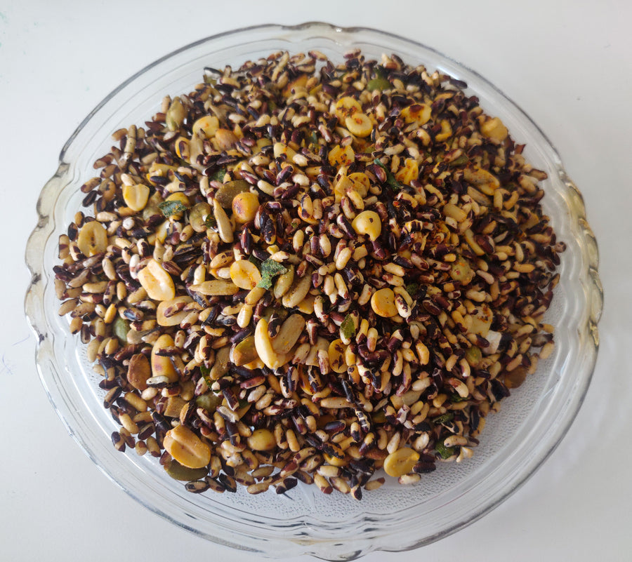 Ready-to-eat Snack: Black Puffed Rice Mix