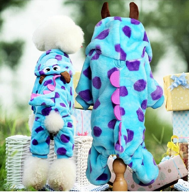 Various Winter Fleece Dog Costumes