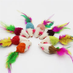 Soft Plush False Mice Dog Toys