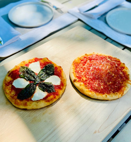 Cooked Capone's pizzas