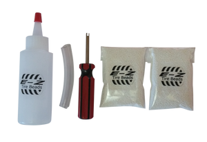 E-Z Tire Beads Motorcycle Kit, Ceramic Balancing 2 oz Front + 2 oz Rear + Applicator Kit, No Lead, No Damage, DIY Tire Balance
