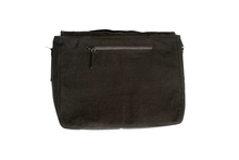 Load image into Gallery viewer, Black Waxed Canvas Messenger Bag