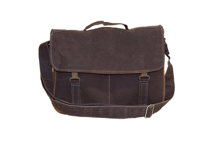 Crossbody Waxed Canvas Messenger Bag