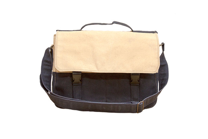 Nautical Waxed Canvas Messenger Bag