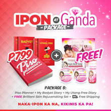Load image into Gallery viewer, Ipon at Ganda Package B: Piso Planner + Badyet Diary & Utang-Free Diary